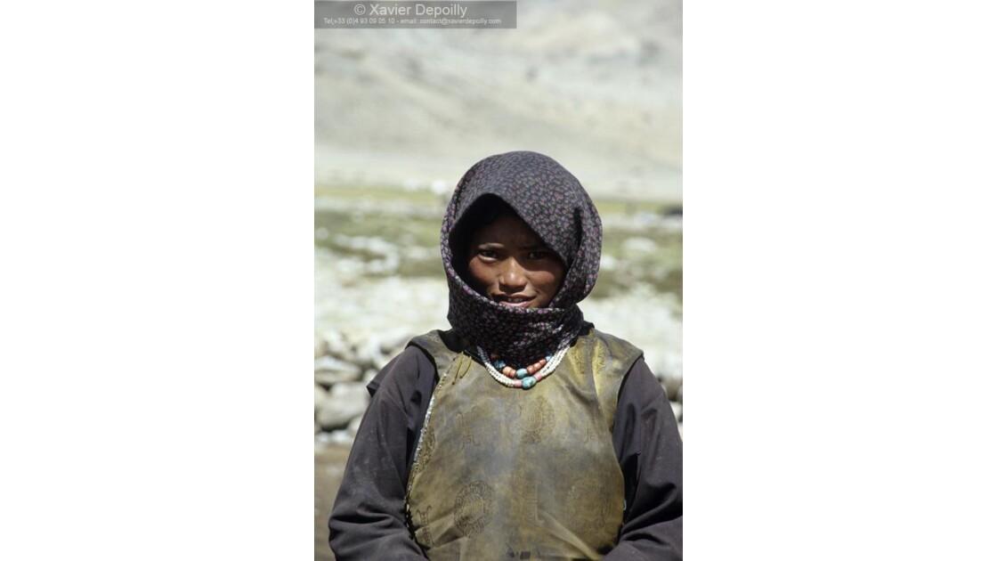 Femme nomade au Ladakh