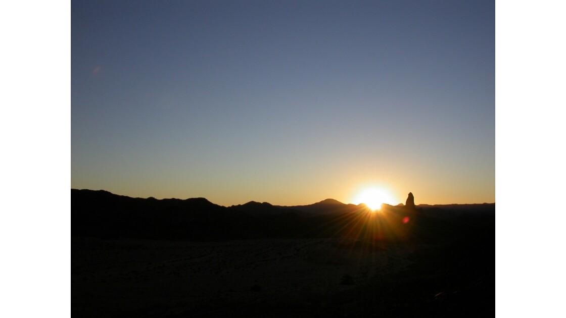 coucher de soleil sur le pic.
