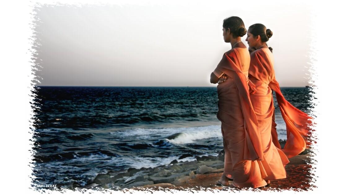 Bord de mer à Pondichéry Inde