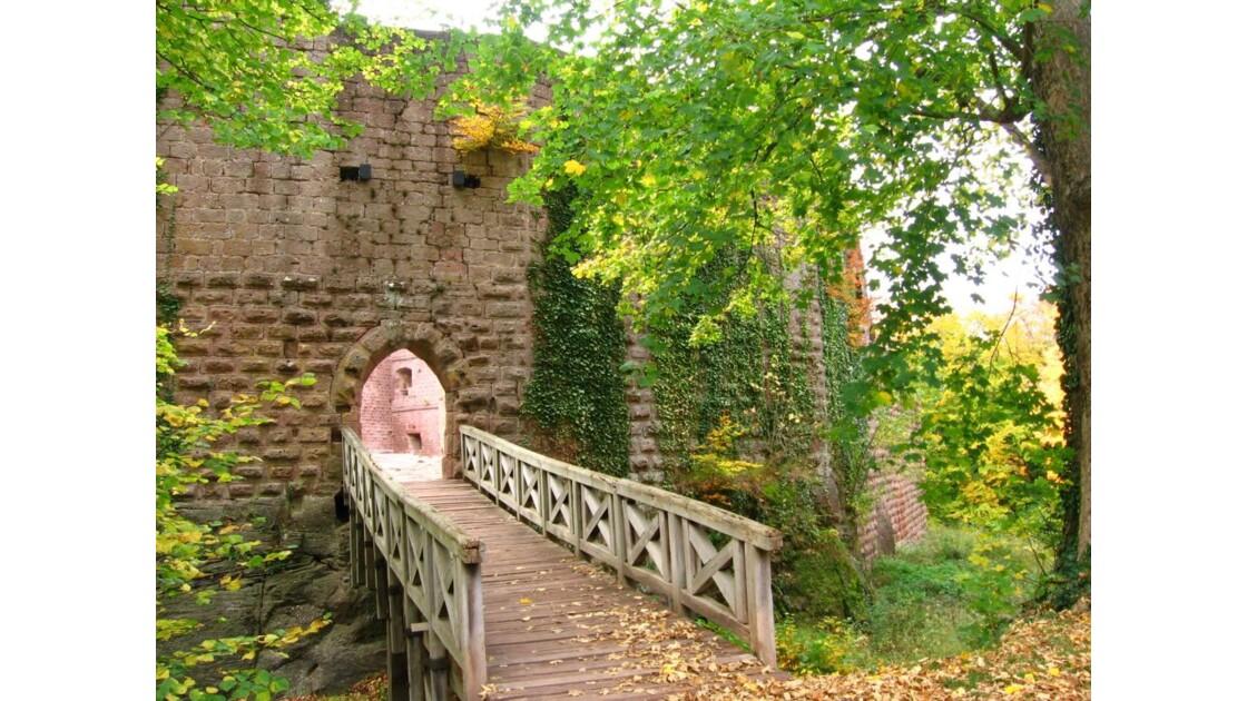 Entrée du château Wangenbourg