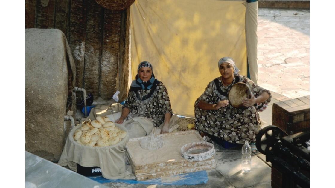 Cuisson du pain au Caire