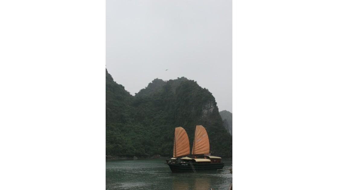 Along boat
