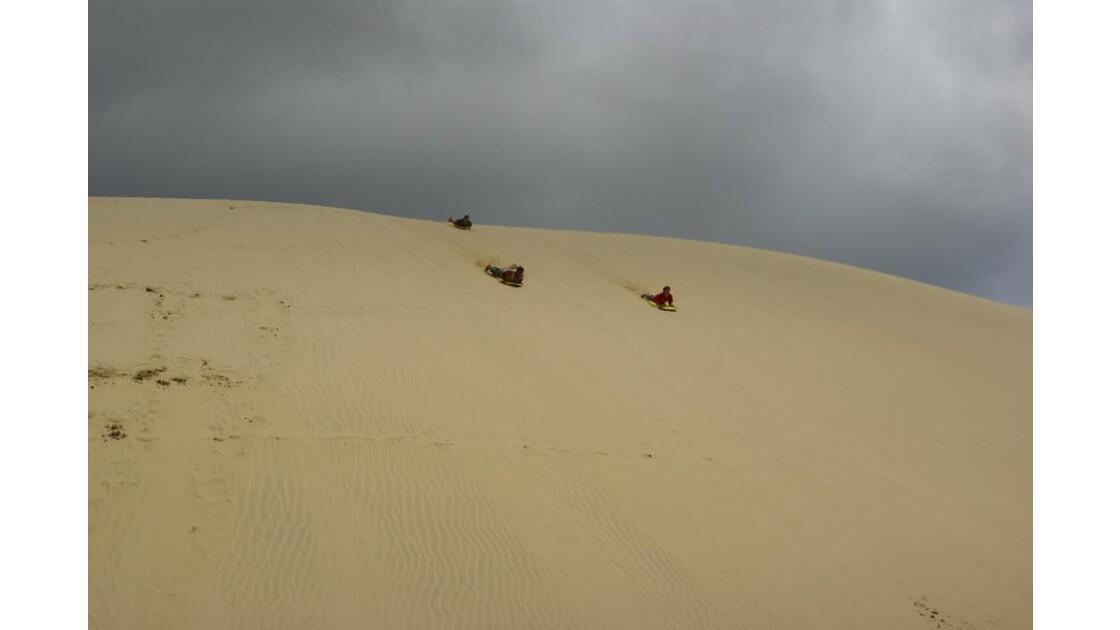 Bodyboard sur sable