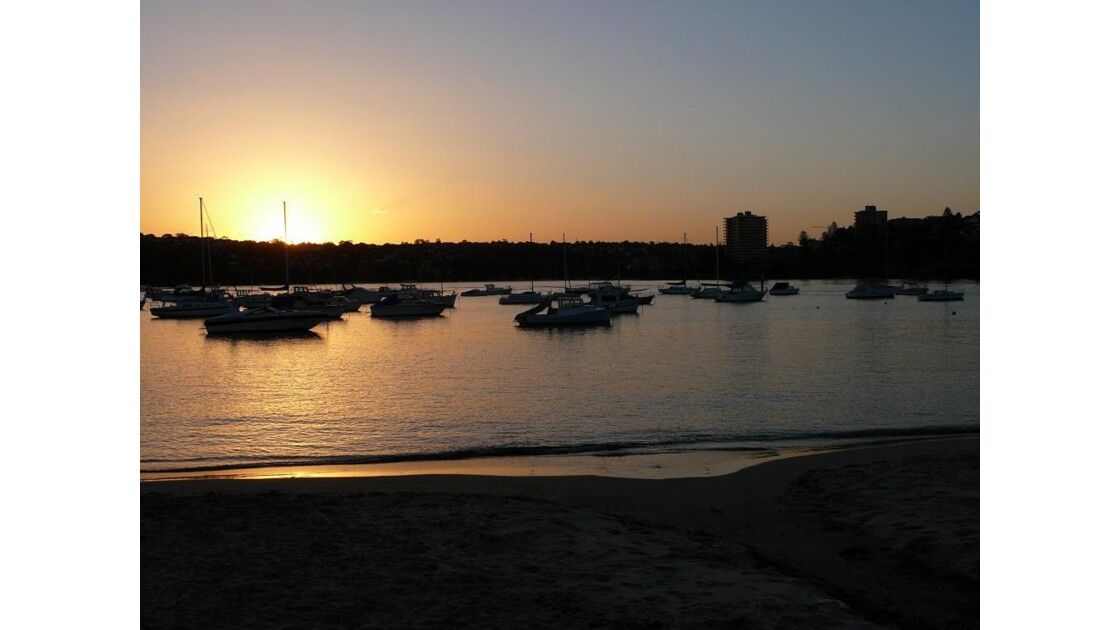 sunset sur Manly
