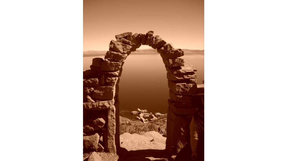 Porte, Ile Taquile, Titicaca