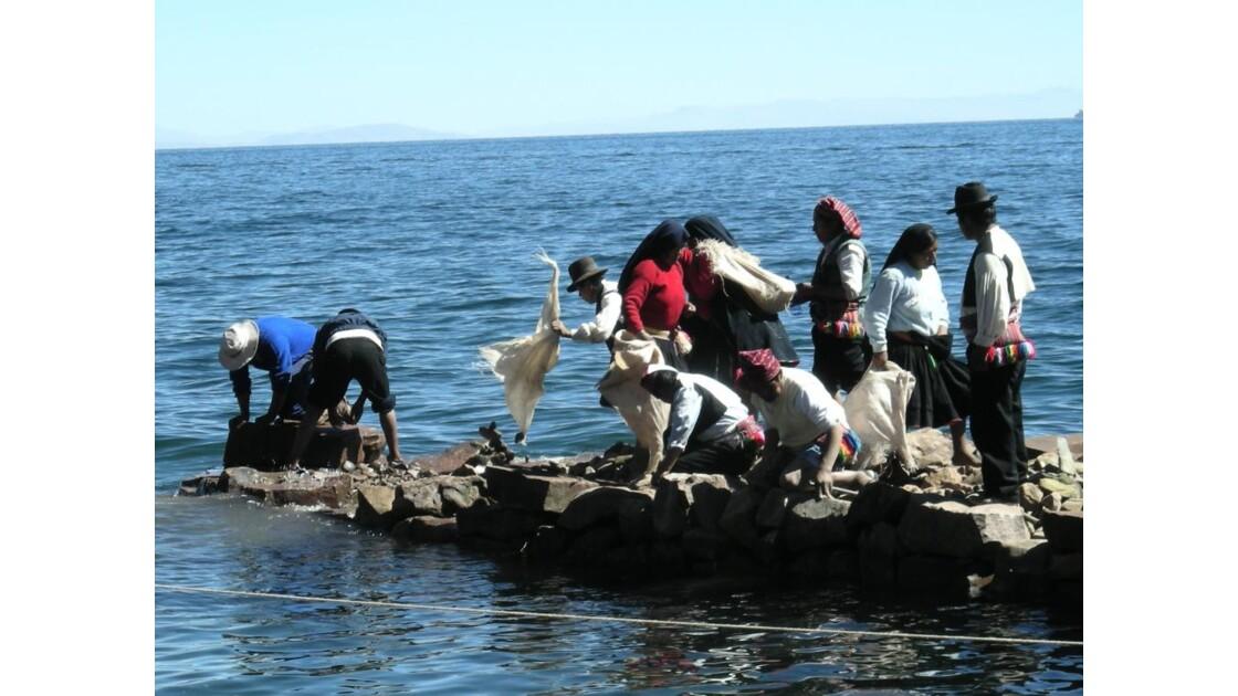 Port de Taquille, Titicaca