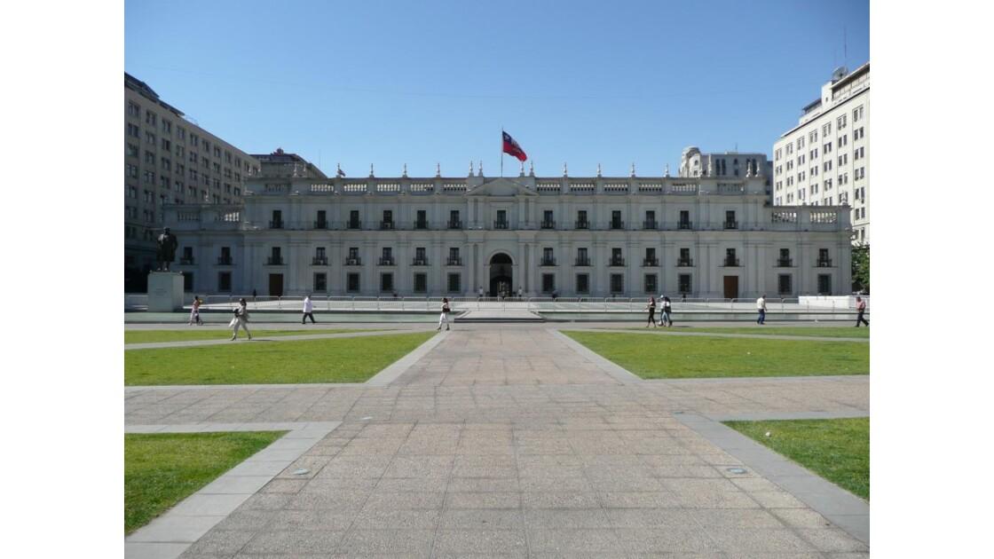 l'arrière de la Monéda Santiago du Chil