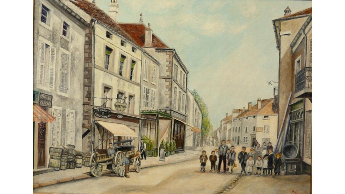 Rue de St Loup sur Sémouse vers 1900.jpg