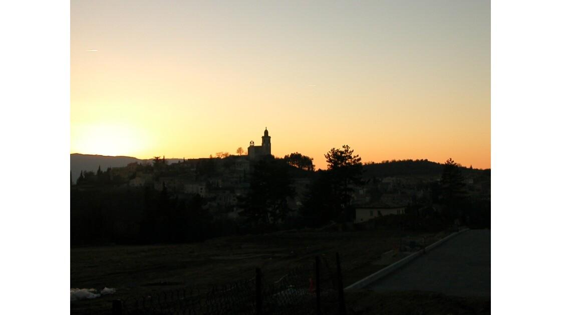 Coucher de soleil sur Reillanne