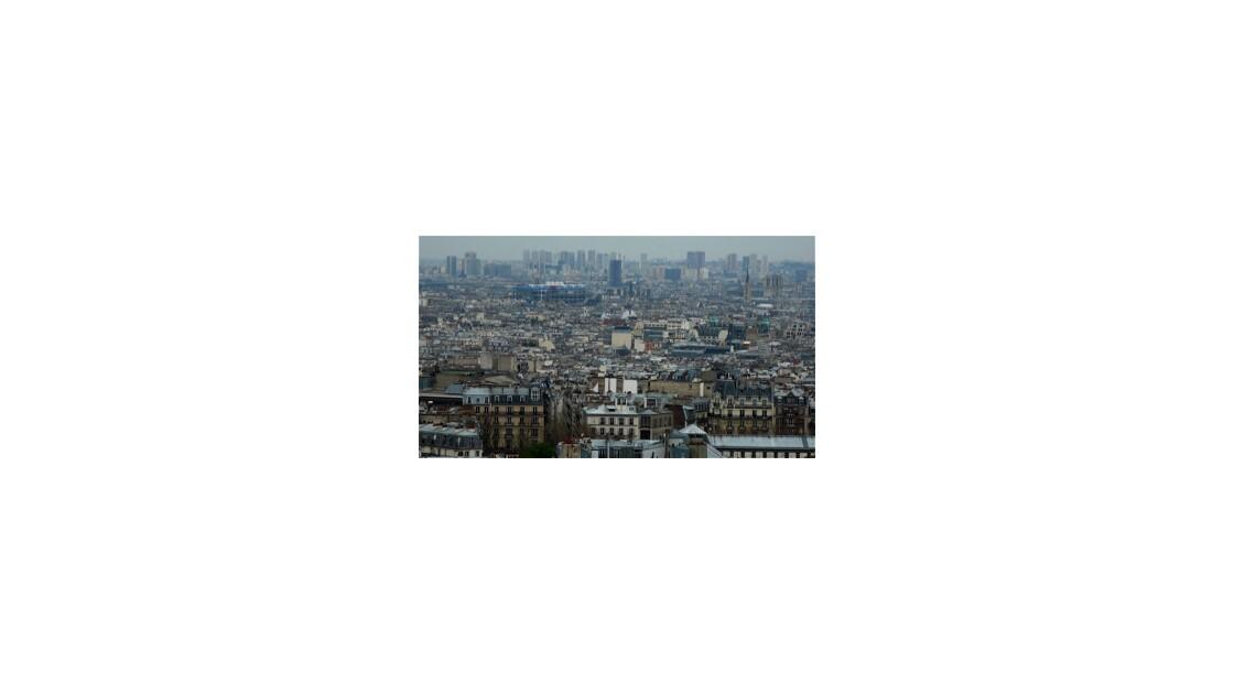 Vue sur Paris de La Butte Montmartre