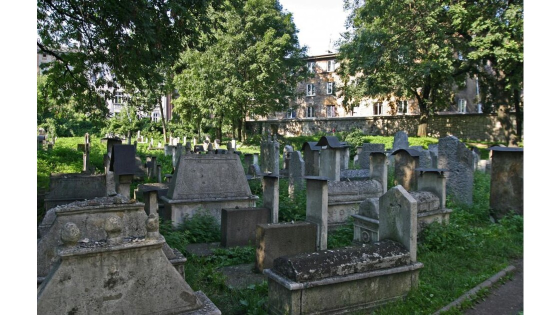 Le vieux cimetière juif de Kazimierz