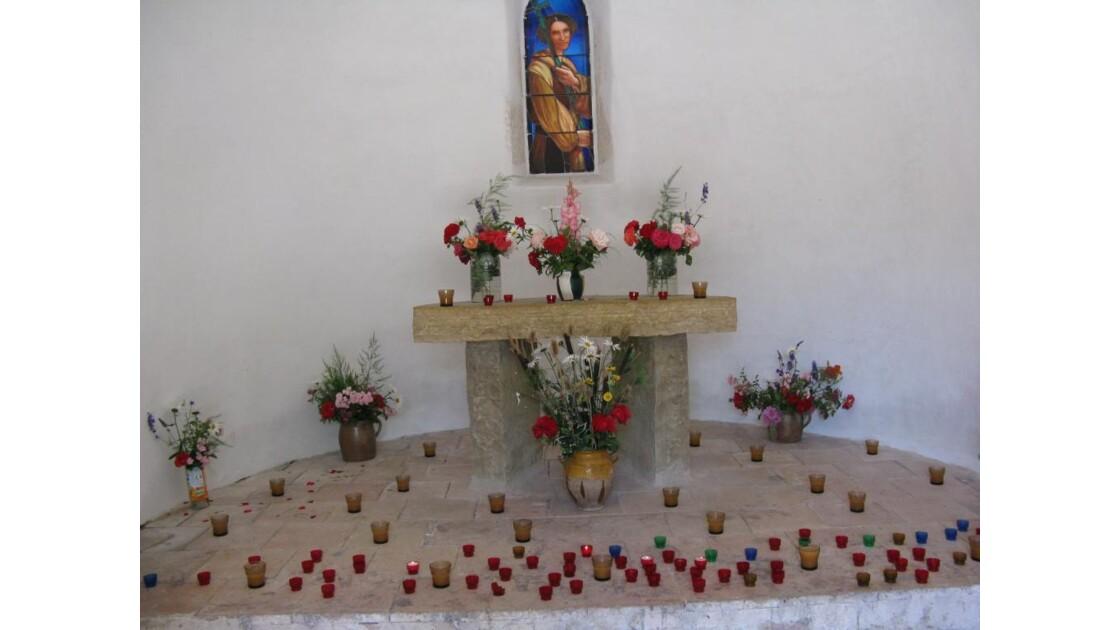 autel,petite chapelle,petites bougies