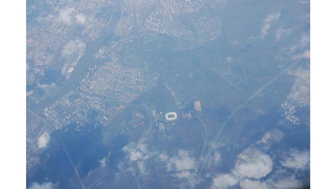 Stade de Foot au dessus de l'Allemagne
