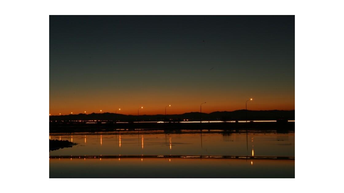 Coucher de soleil à Christchurch