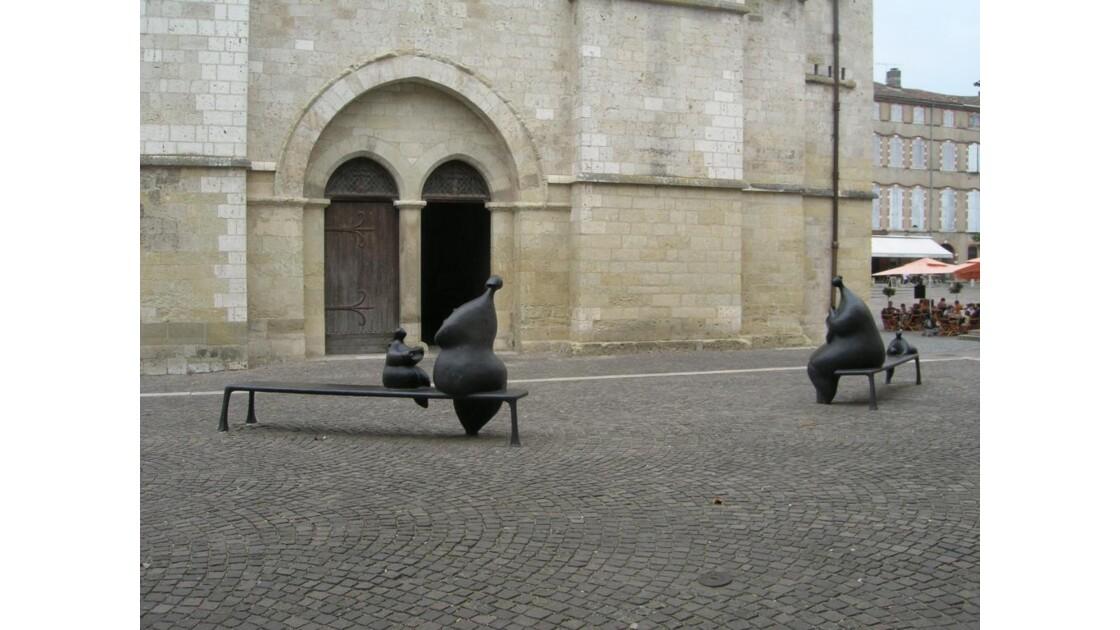 Moissac,sculptures de Botero