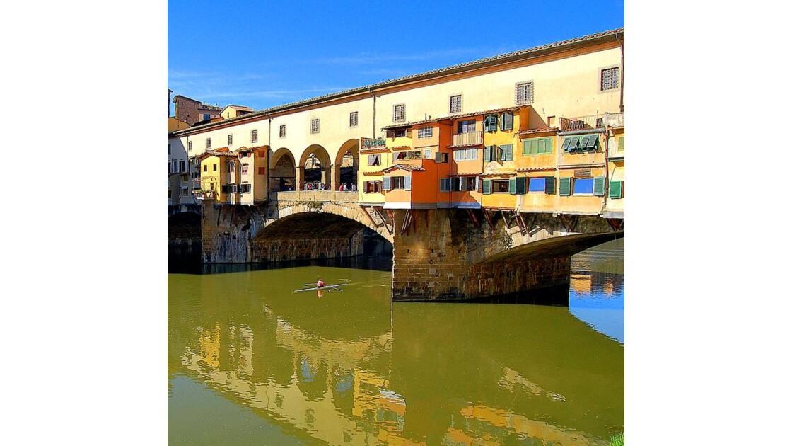 Florence : Ponte Vecchio au rameur