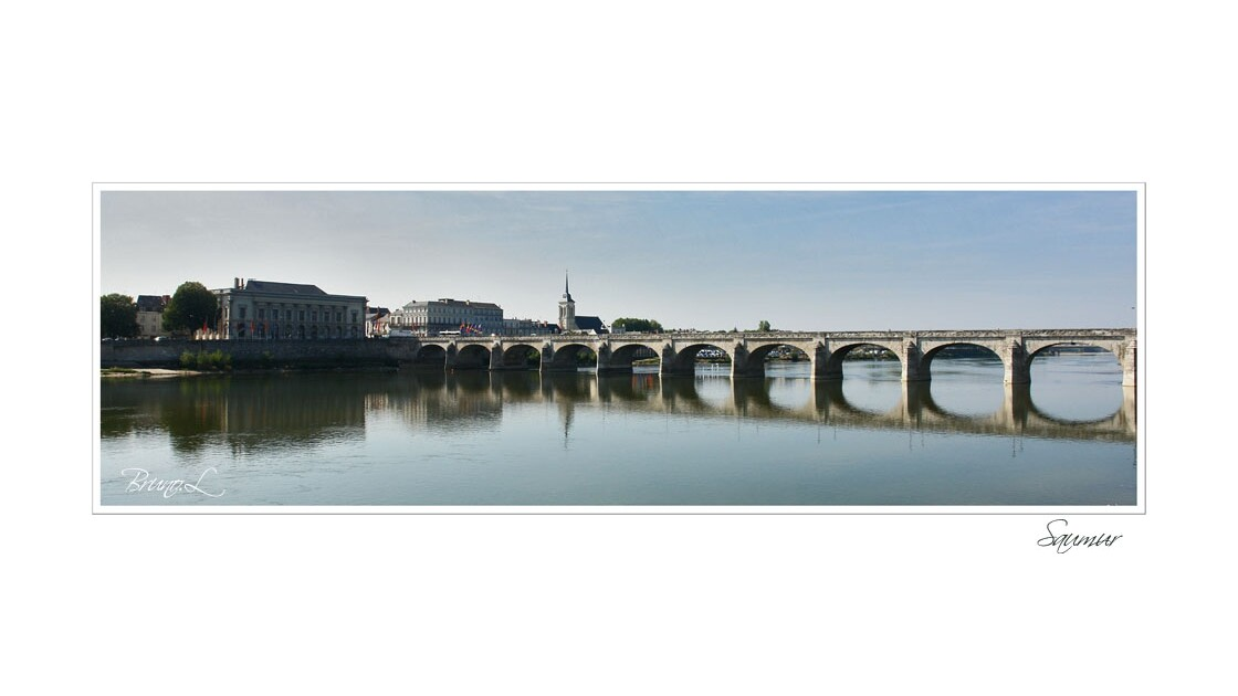 Saumur et son pont