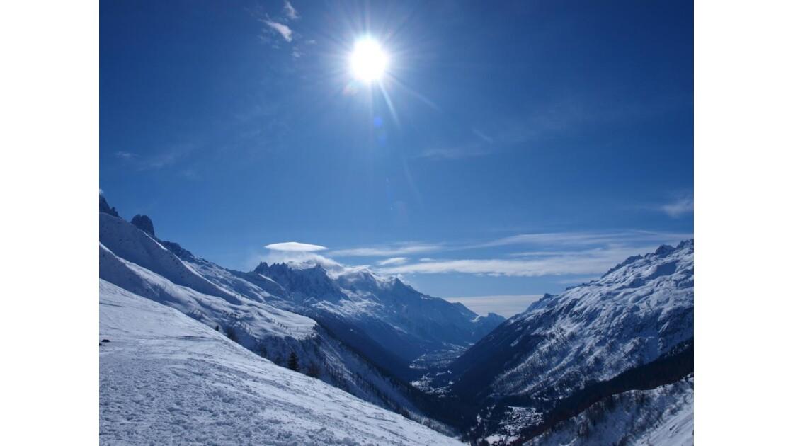 Mont Blanc et son bonnet