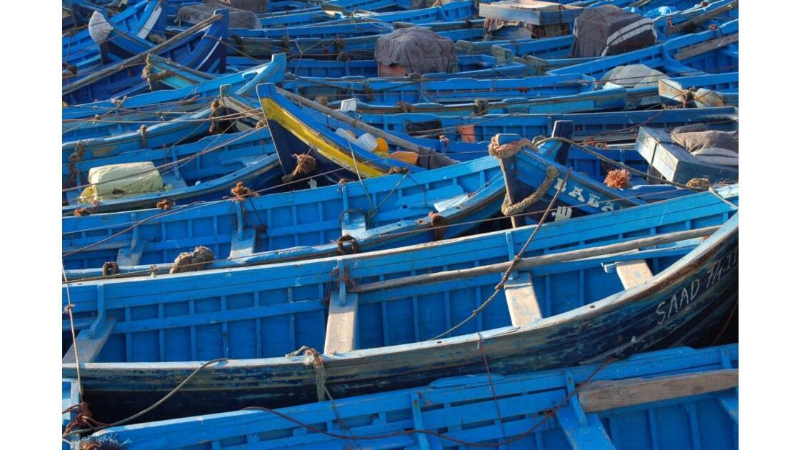 parking de bateaux au port d'Essaouira