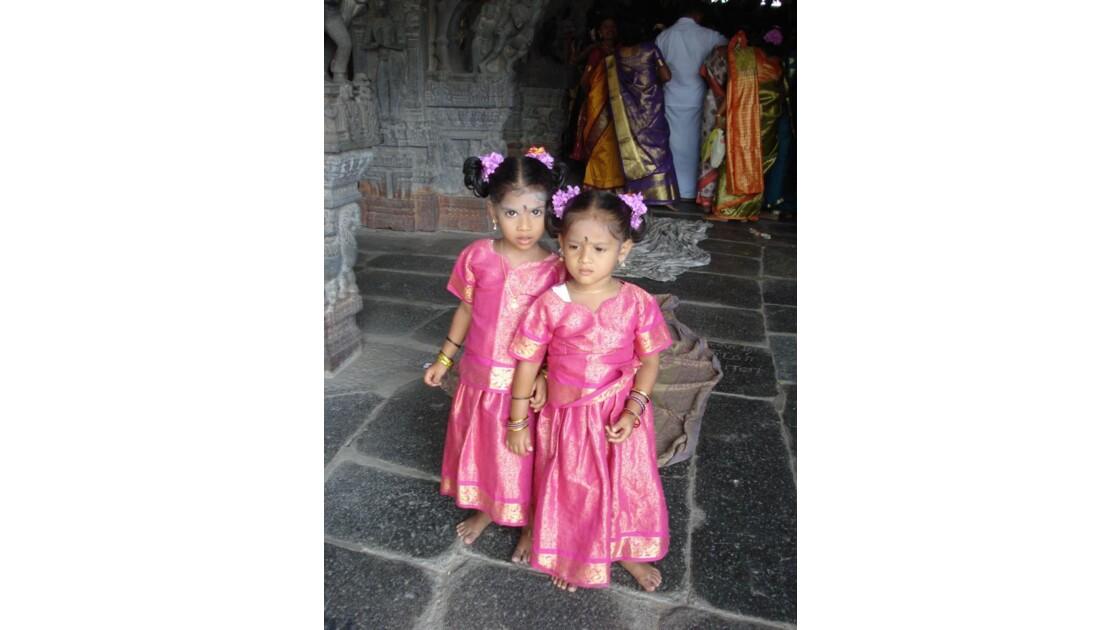 Petites filles en Inde