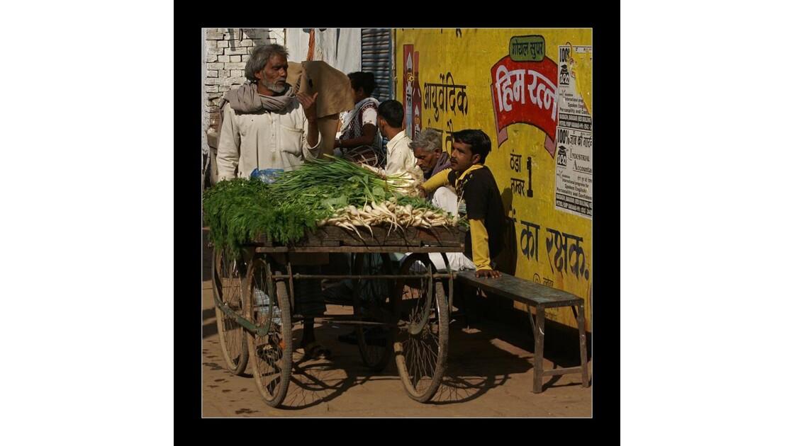 Le vendeur de légumes