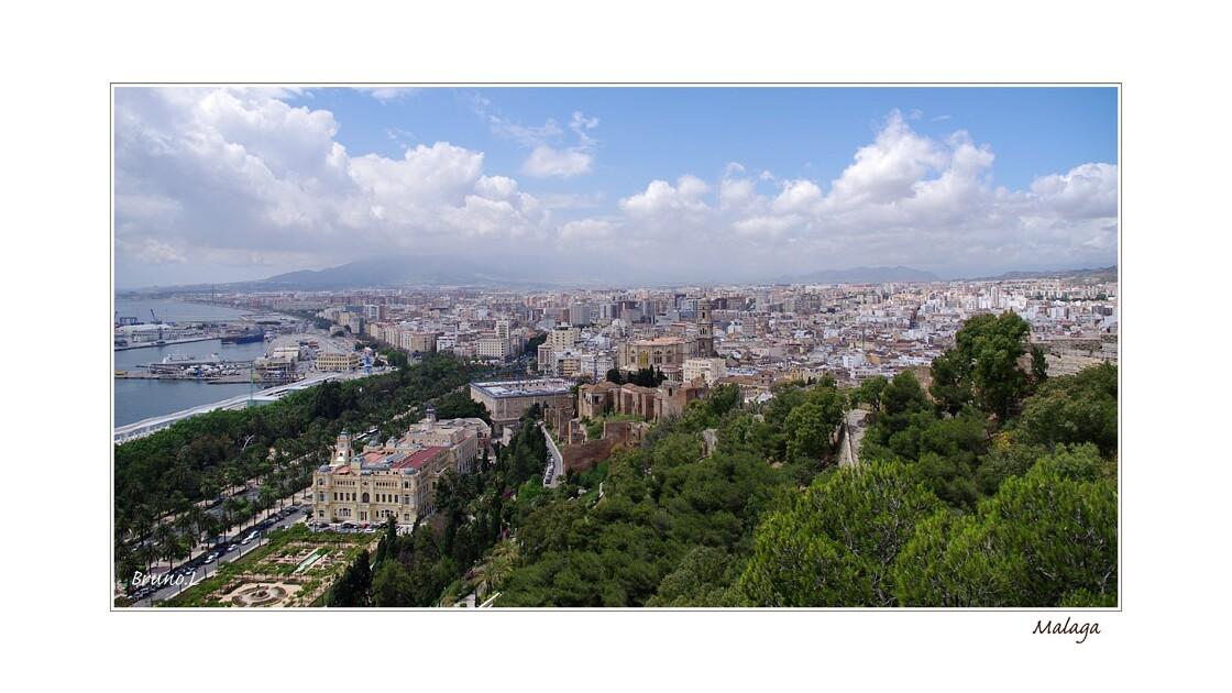 Panoramique sur Malaga