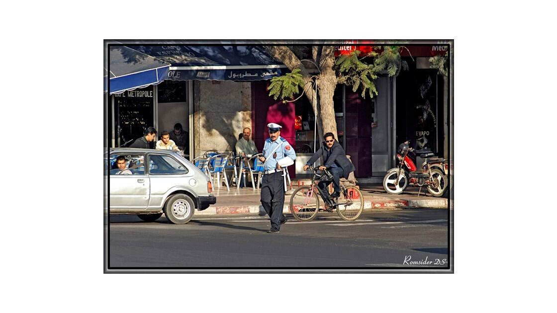 Police de circulation, (Agadir, Maroc)
