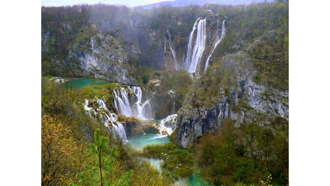 Plitvice. La grande cascade