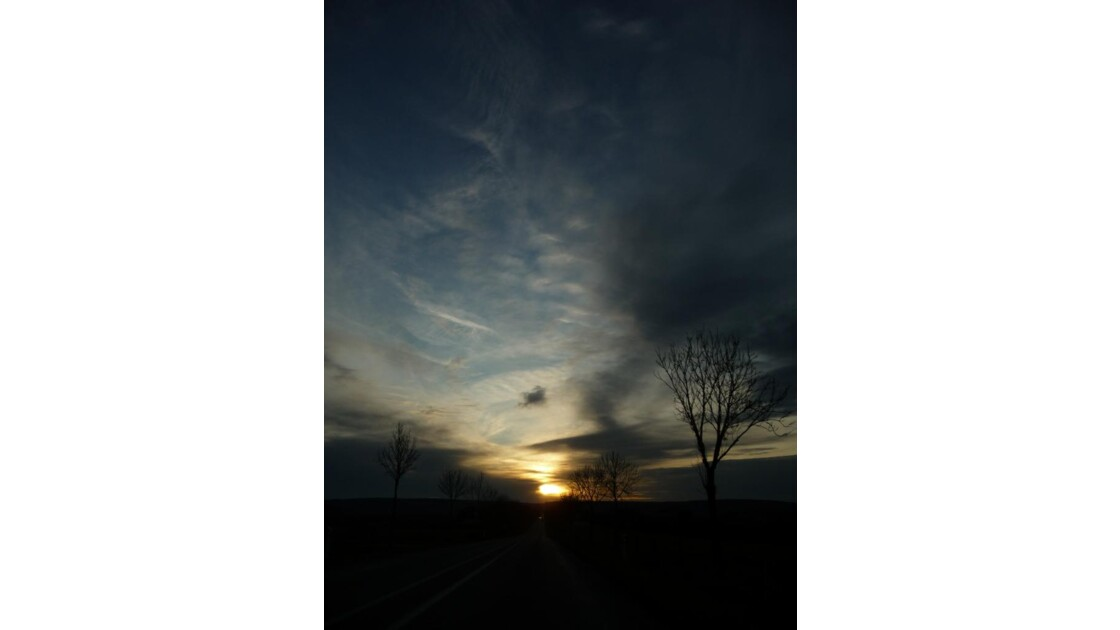 Coucher de soleil près de Verdun