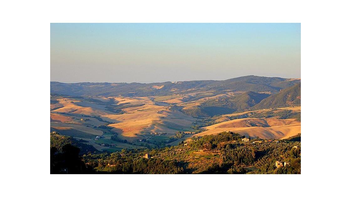 Coucher de soleil près de Volterra