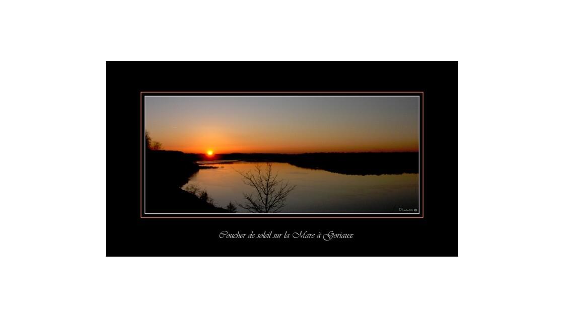 Wallers coucher de soleil mare à goriau