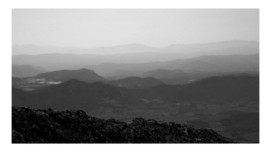Montagnes depuis Peyrepertuse