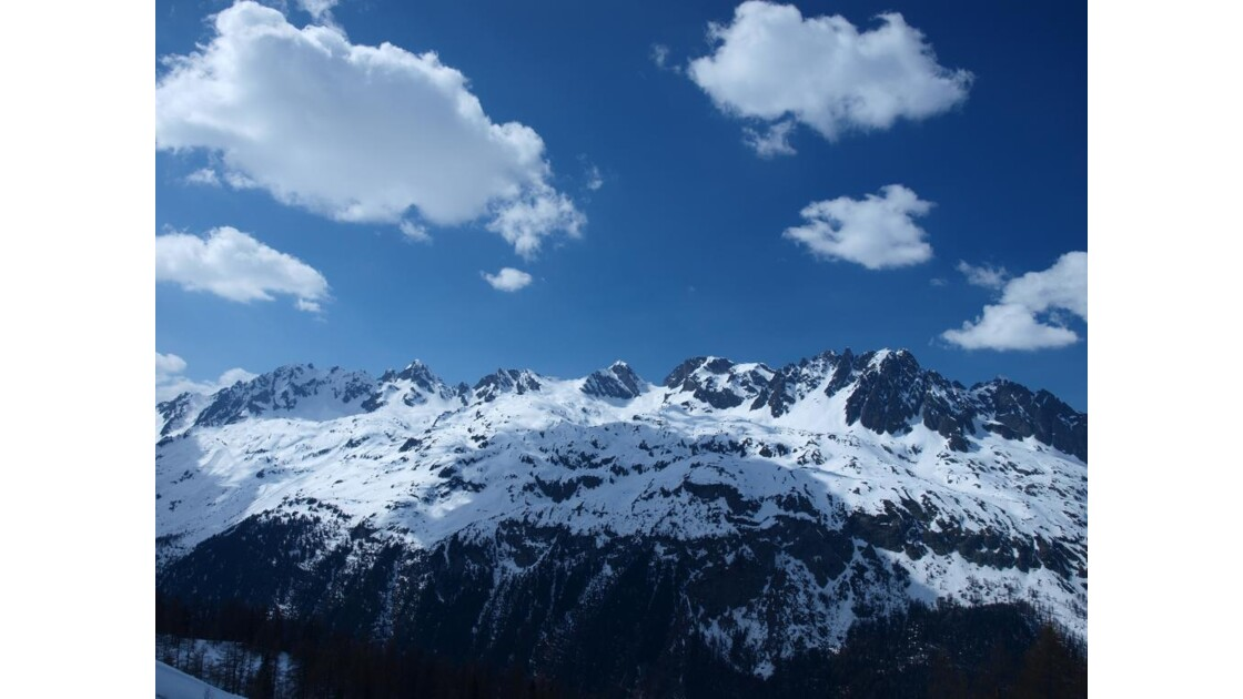 Vue des Grands Montets, Chamonix