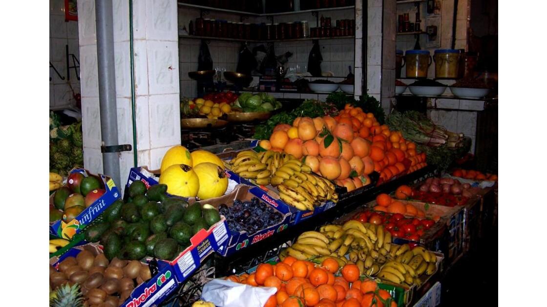 Etalage de fruits