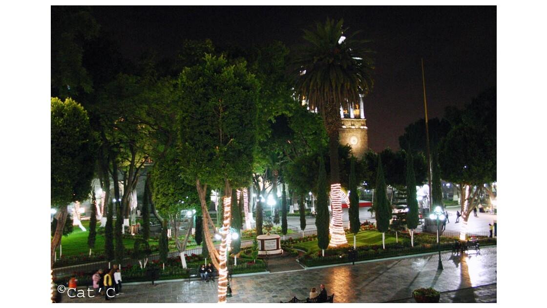 Puebla le zocalo depuis palacio