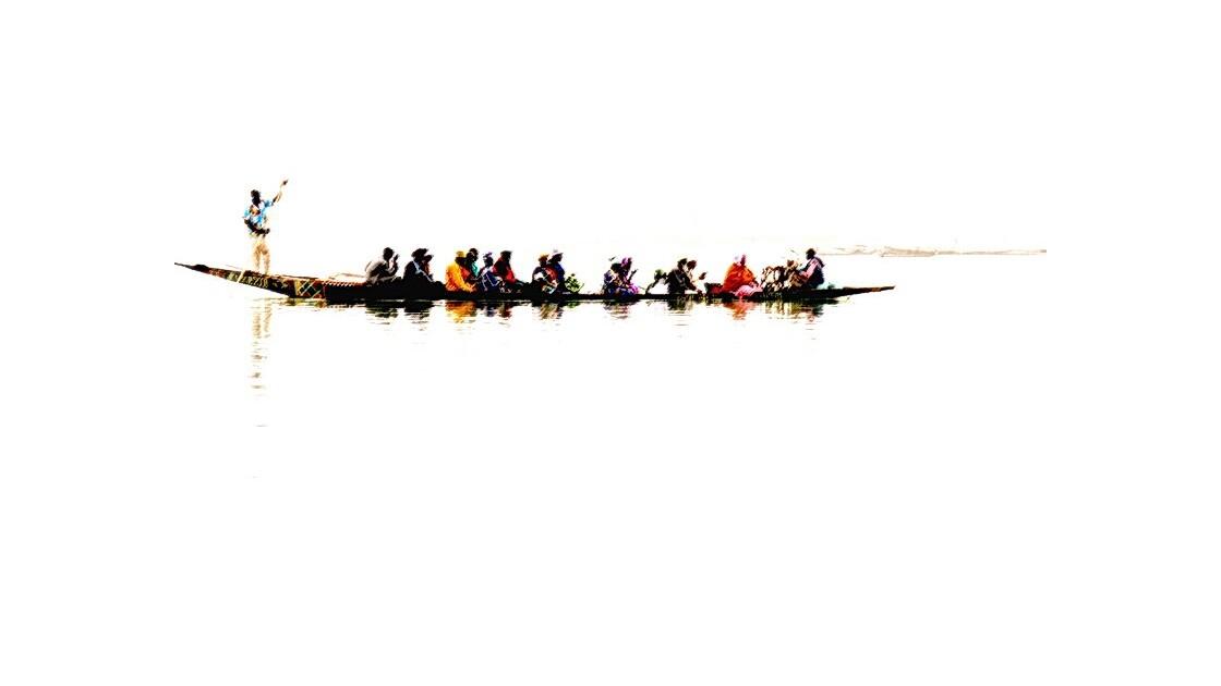 Mopti - pirogue sur le Niger