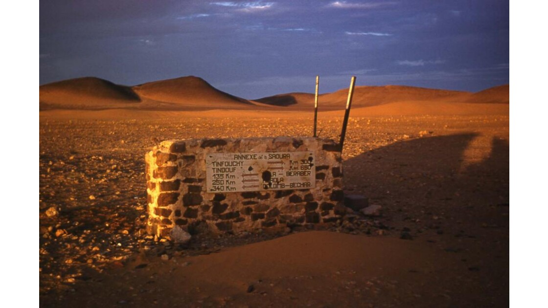Borne au Sahara