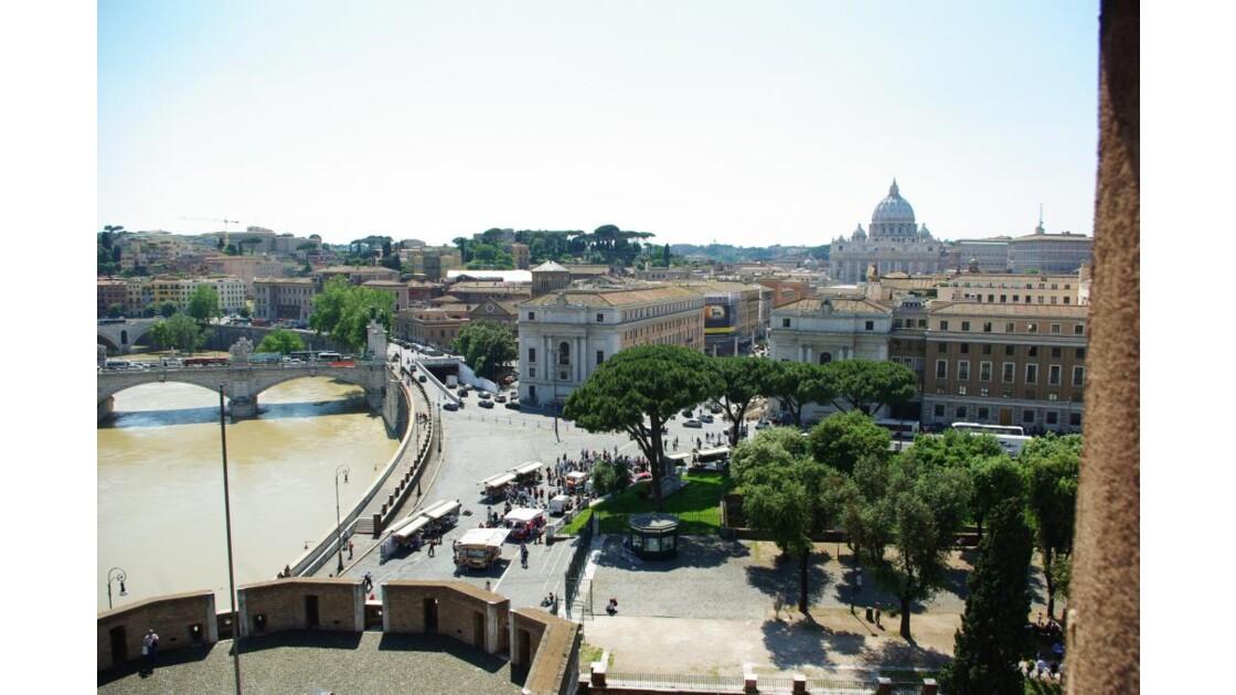 Vu sur le Tibre et le Vatican