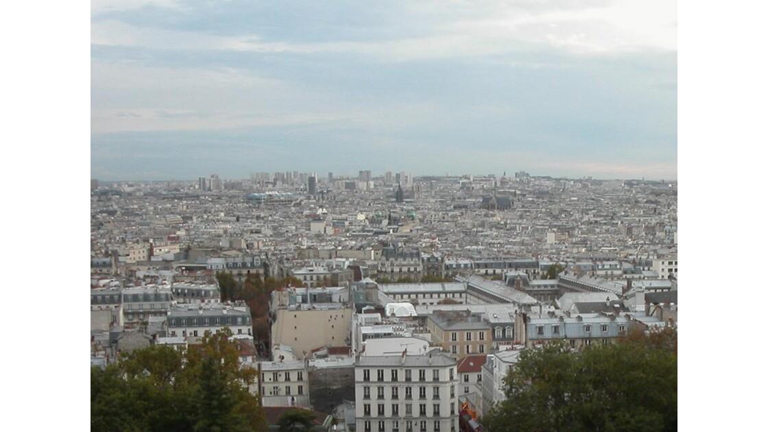 De Montmartre vue sur Paris.