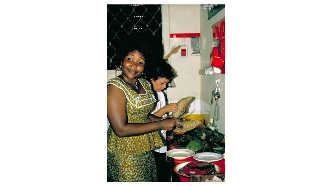 Préparation du manioc