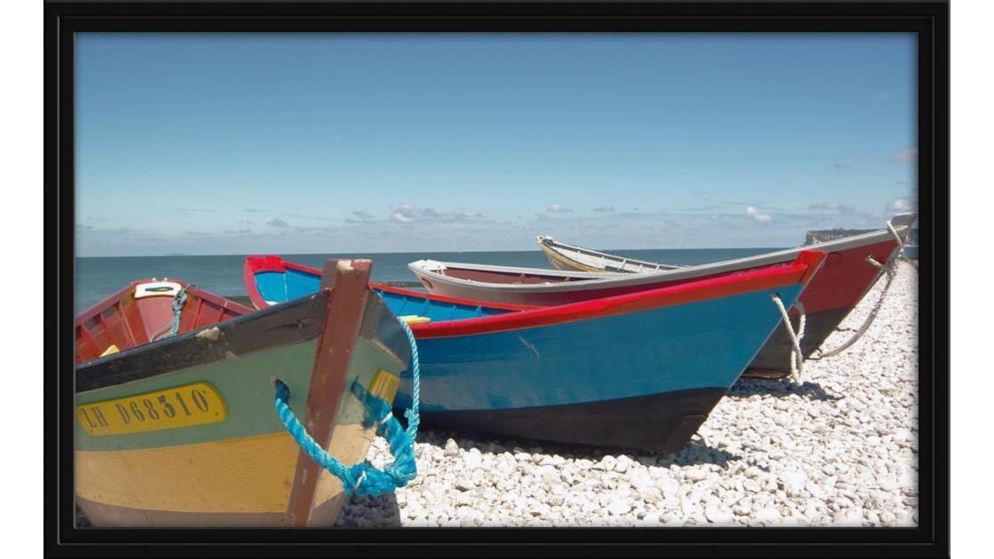 les barques sur le rivage.