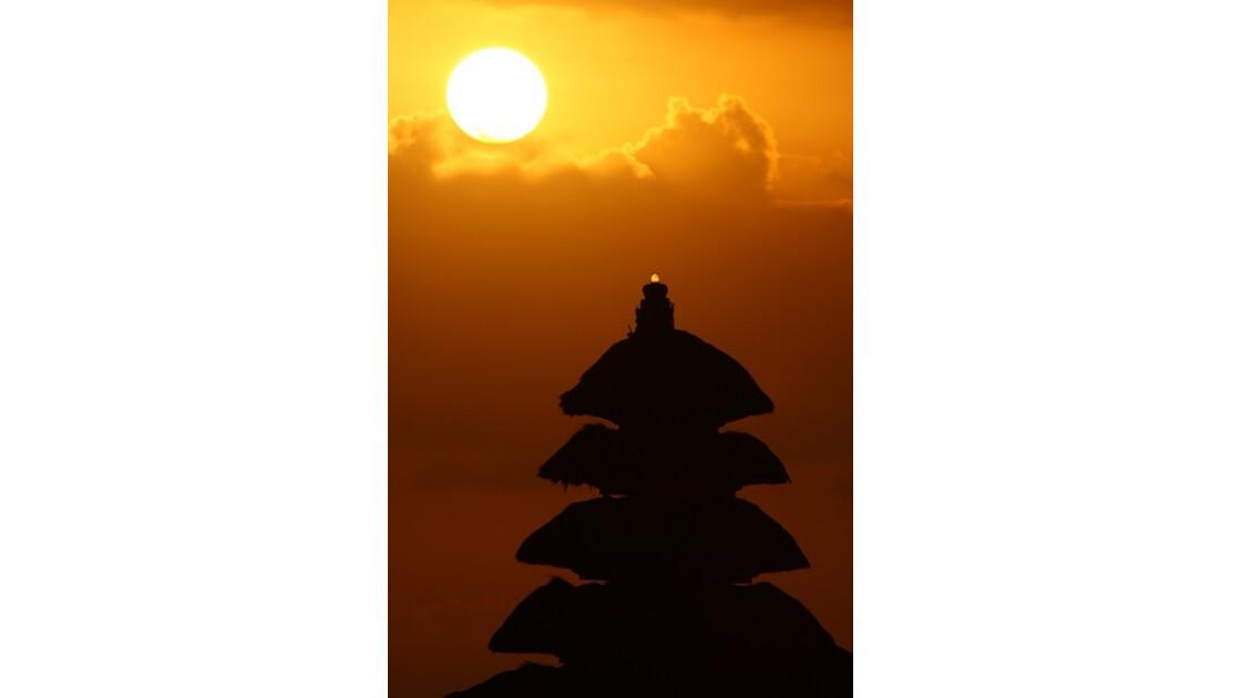 Coucher de soleil a Thana Lot - Bali
