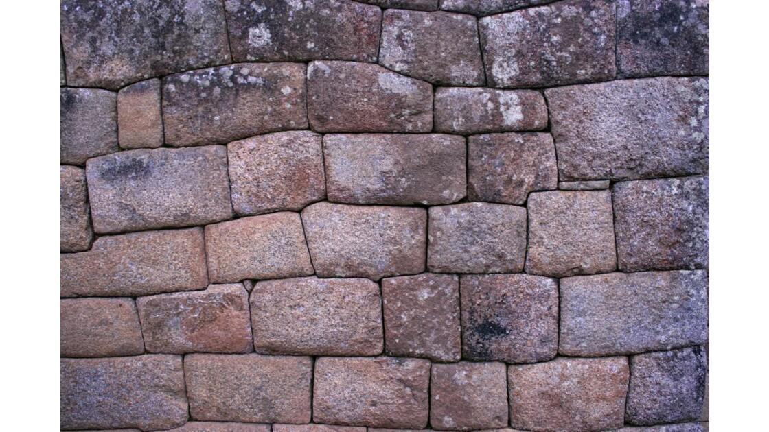 Pérou : mur à Machu Picchu