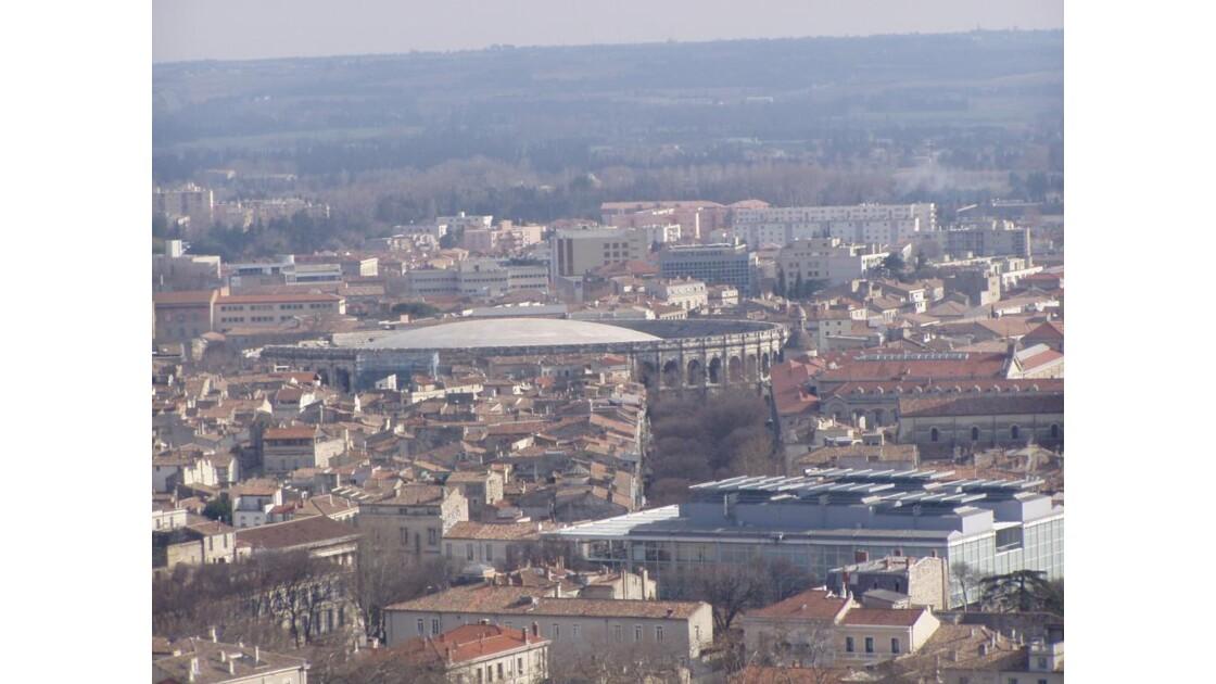 Nimes ,vue de la Tour Magne