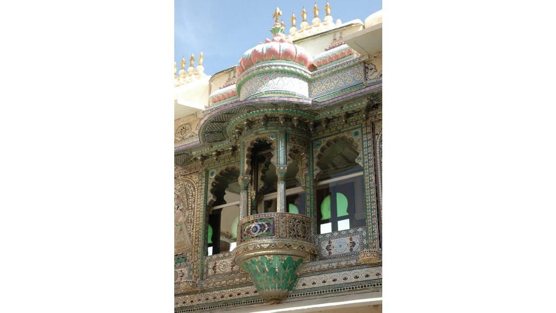 City Palace d'Udaipur, cour des Paons