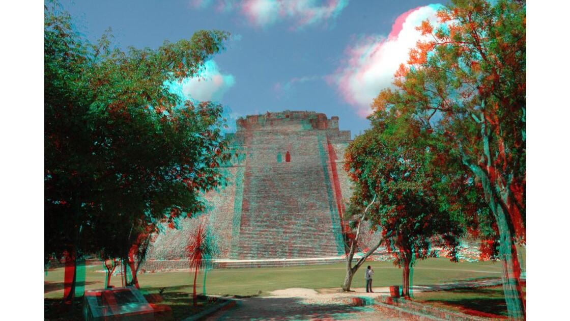 3D - Pyramide d'Uxmal.
