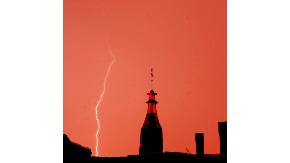 orage sur Narbonne
