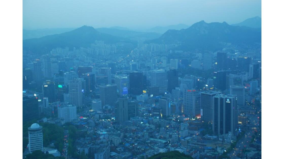 Vue de la tour de Seoul