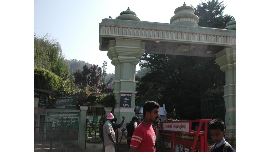 entree jardin botanique Ooty