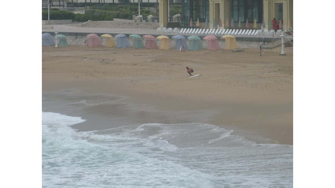 Tôt ce matin, la grande-plage